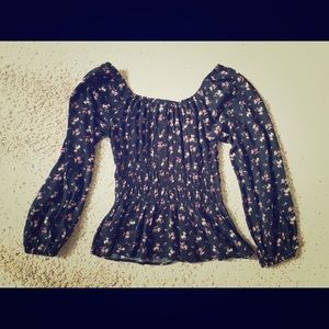 American Eagle smocked shirt